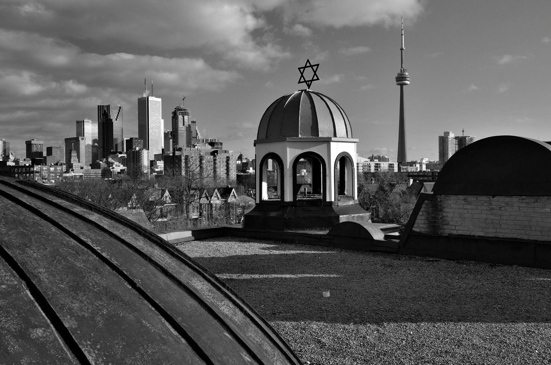 "From the book ""Views of the CN Tower"". View South from the rooftop of the Kiever Synagogue."