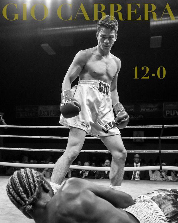 Gio Cabrera, professional boxer, 6.26.18, 12-0