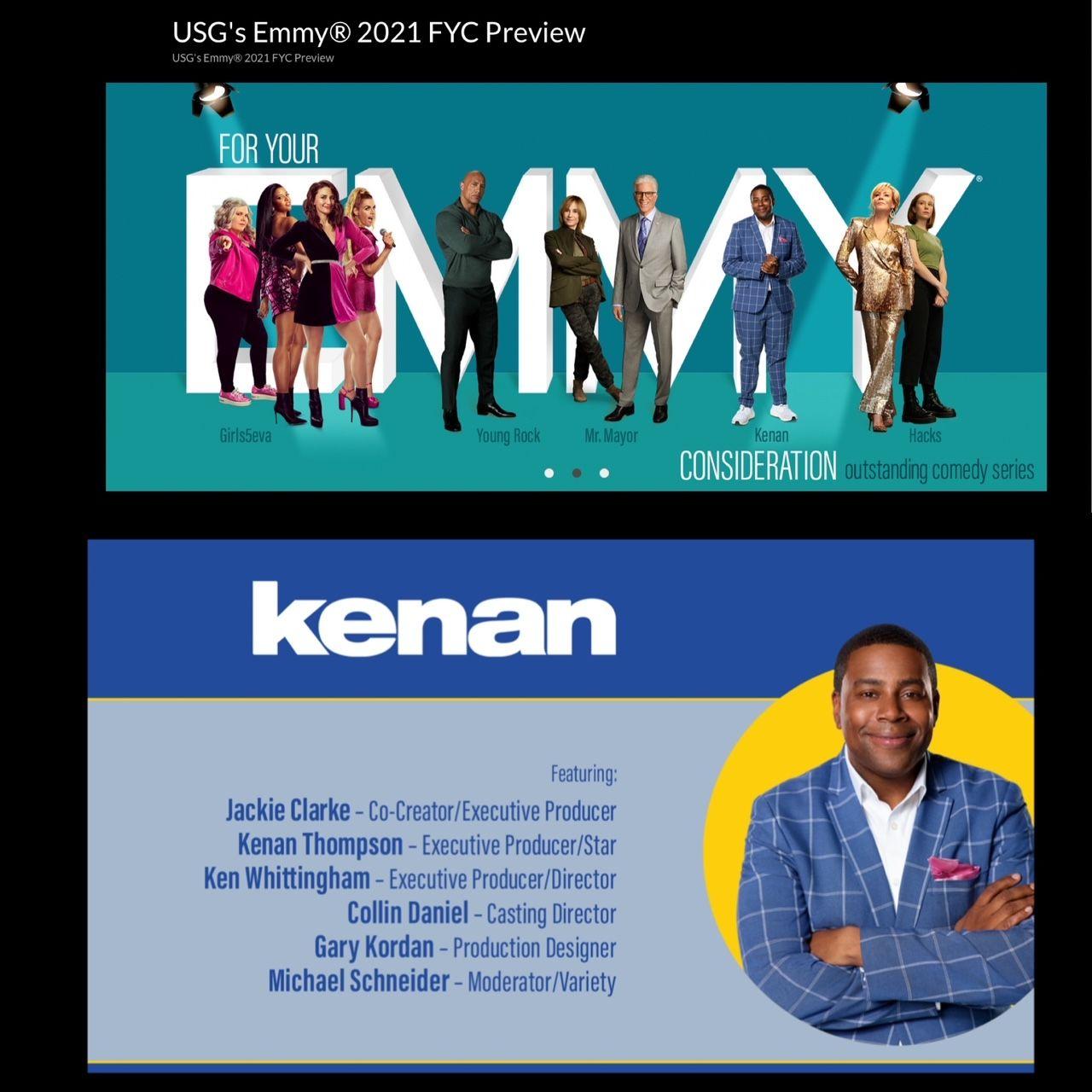 Kenan NBC Emmy Panel 2021