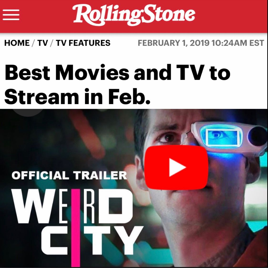 WEIRD CITY ROLLING STONE