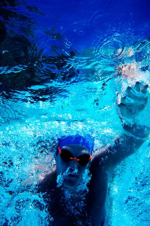 Andrew Corlett, Swim Training.