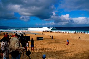 On set Blue Crush. Pipeline, Oahu