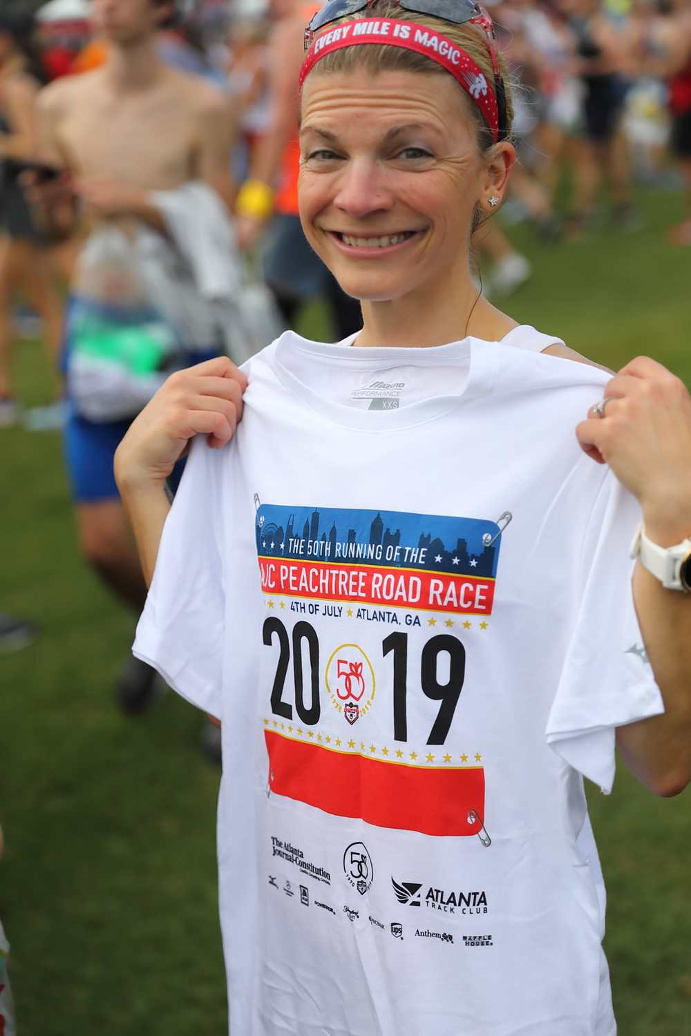 Jen and her top finisher tee-shirt