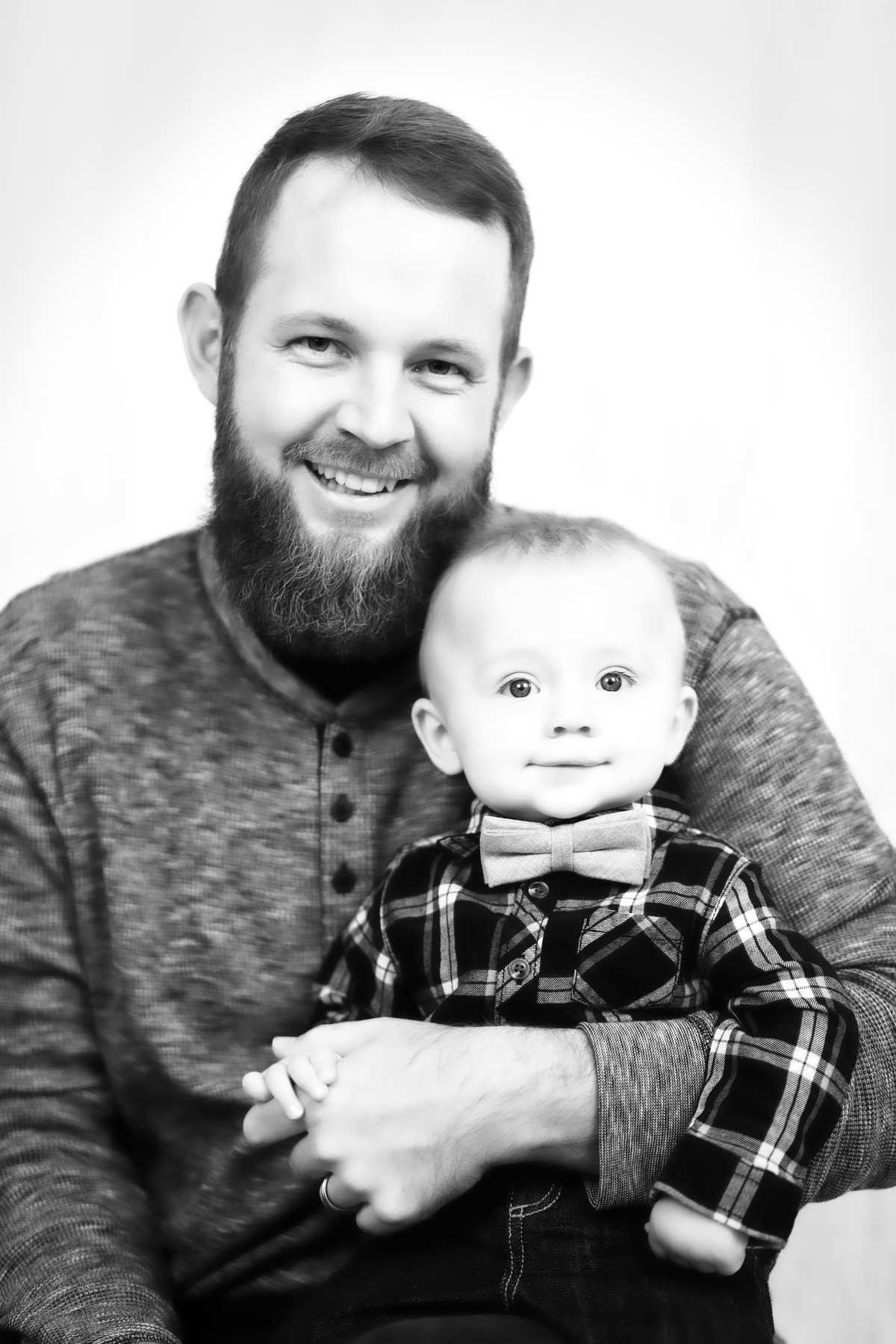 Dad and Baby looking so cute!