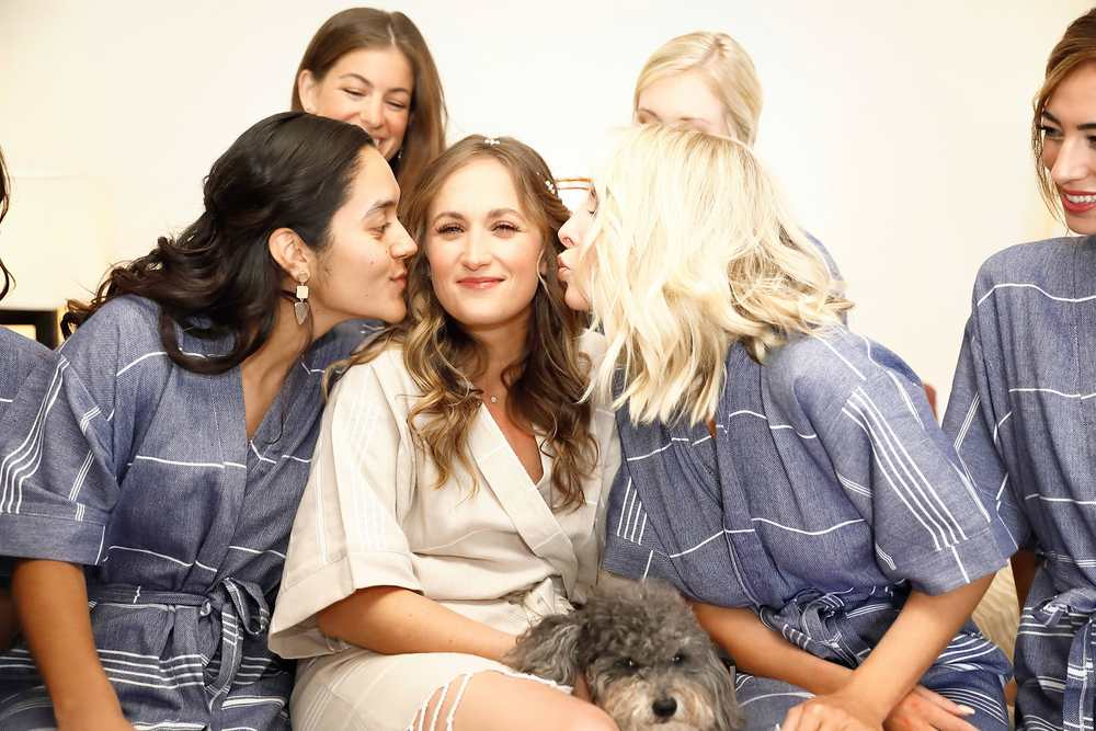 Wedding kisses from Bridesmaids