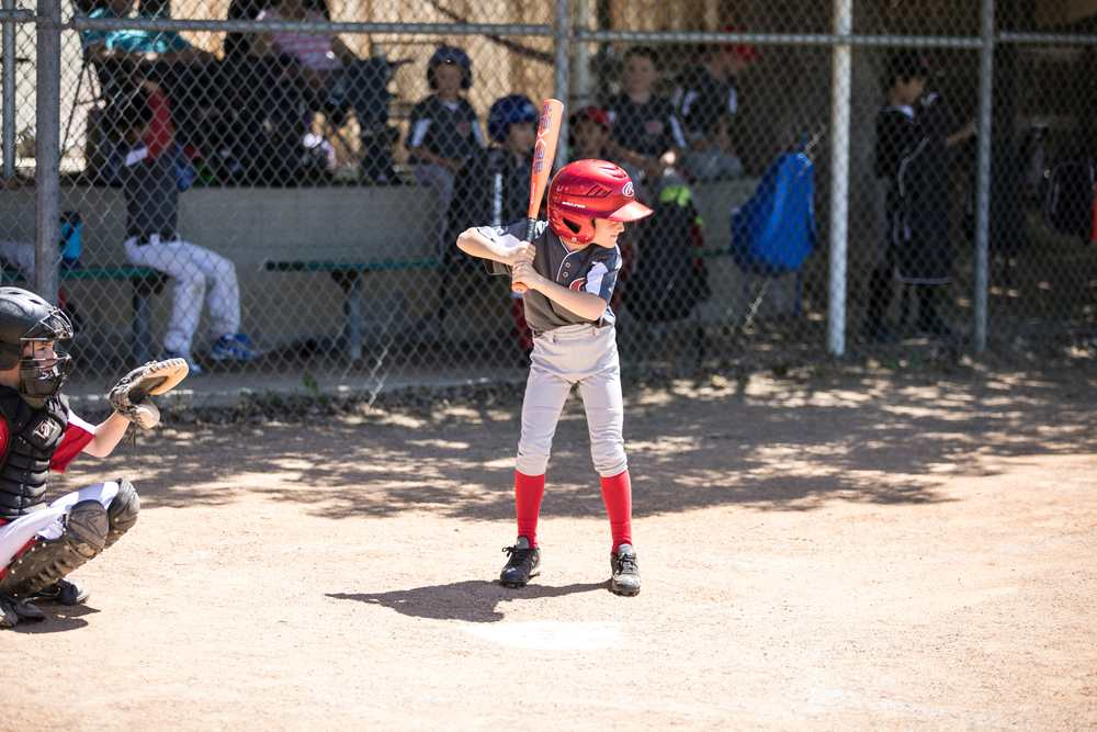Youth Baseball - Sebby batter up