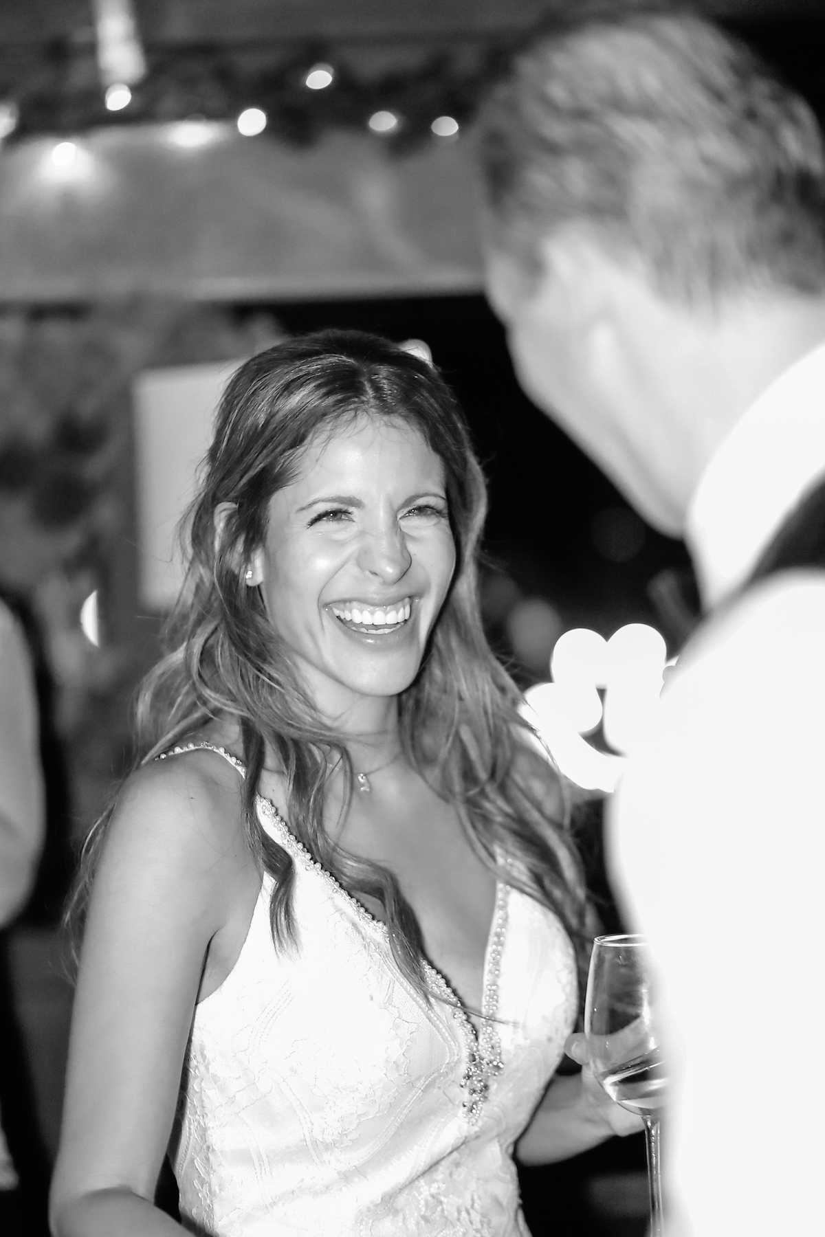 First dance smiles from our gorgeous bride.  Can anyone say Raquel Welch?