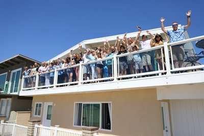 Family photography on the balcony