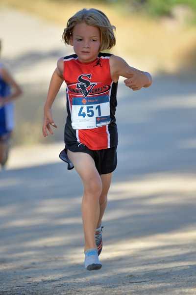 Sebby the shoeless Cross Country runner