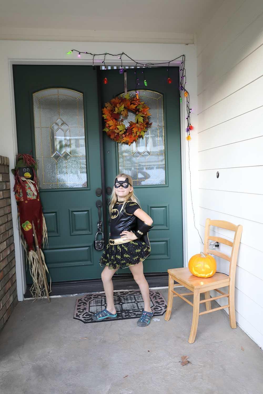 Alex as Batgirl for Halloween