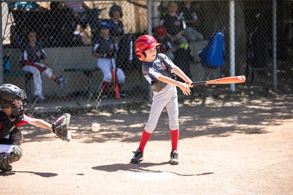 Youth Baseball - Sebby at bat