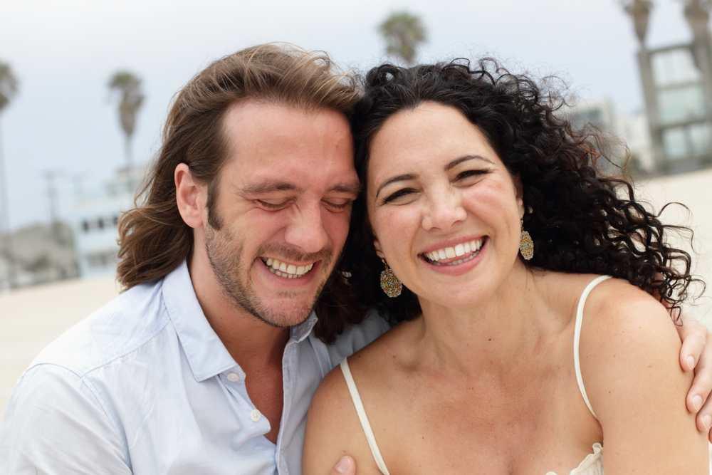 Daniel and Christina on the beach