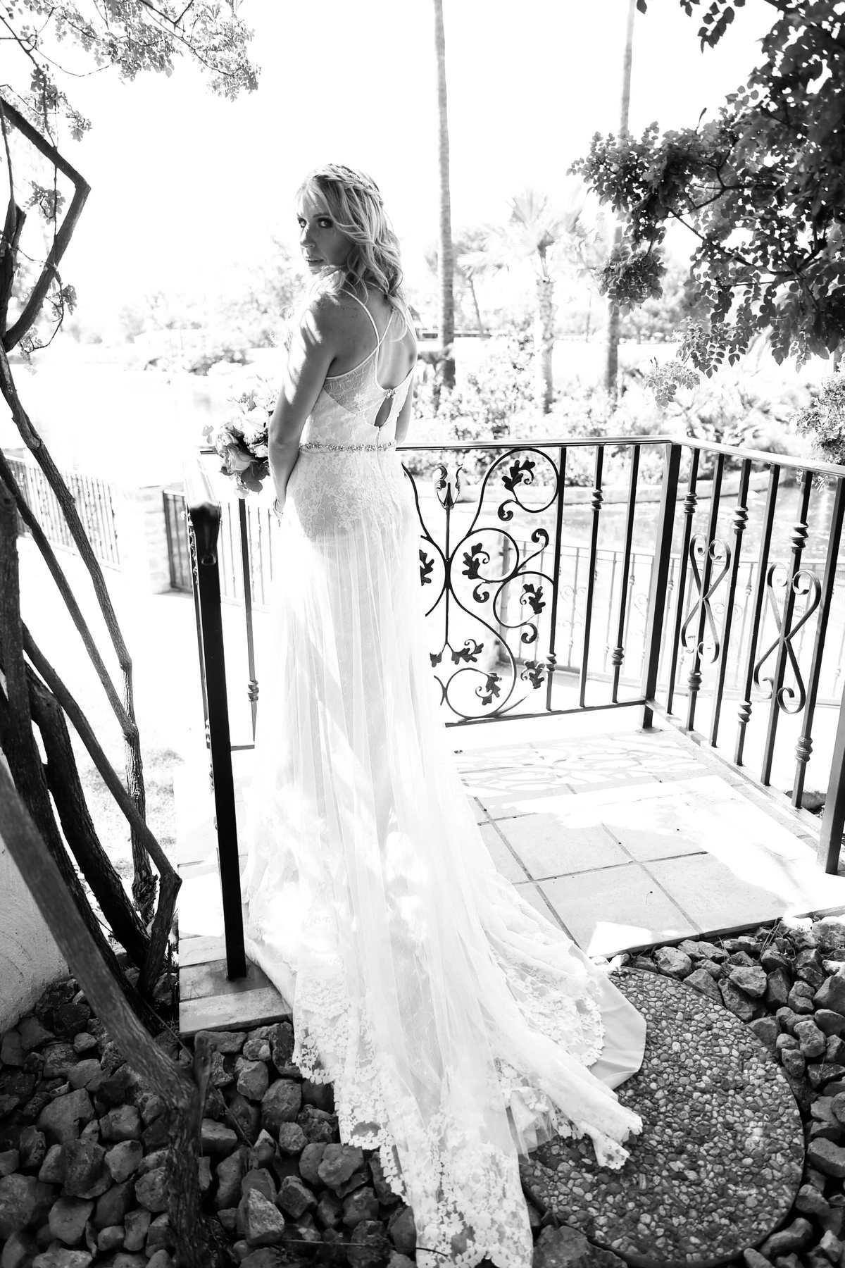 Our beautiful bride Courtney in her amazing wedding dress