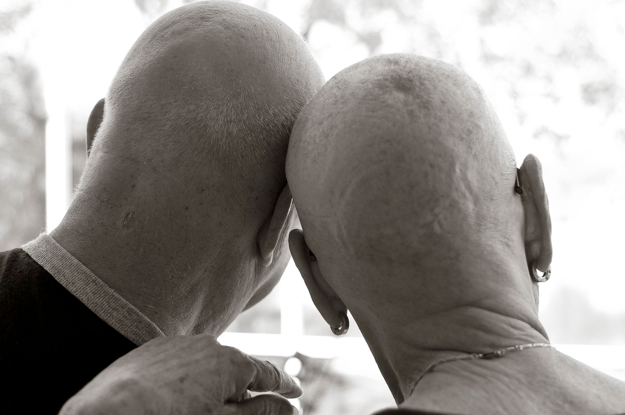 Chemo patient with her husband