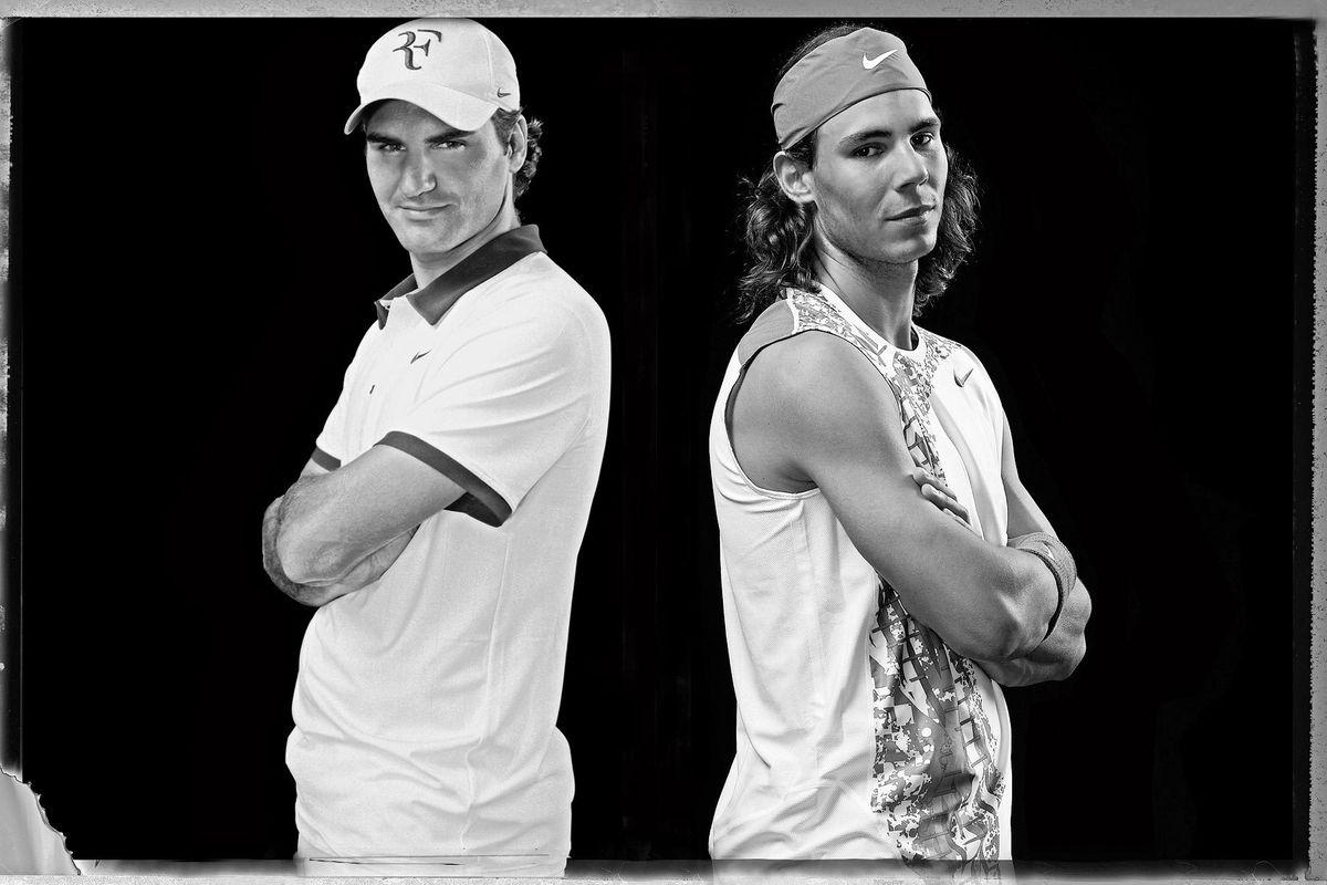 Roger Federer and Rafael NadalTennis LegendsEpic RivalsPalm Springs, CA