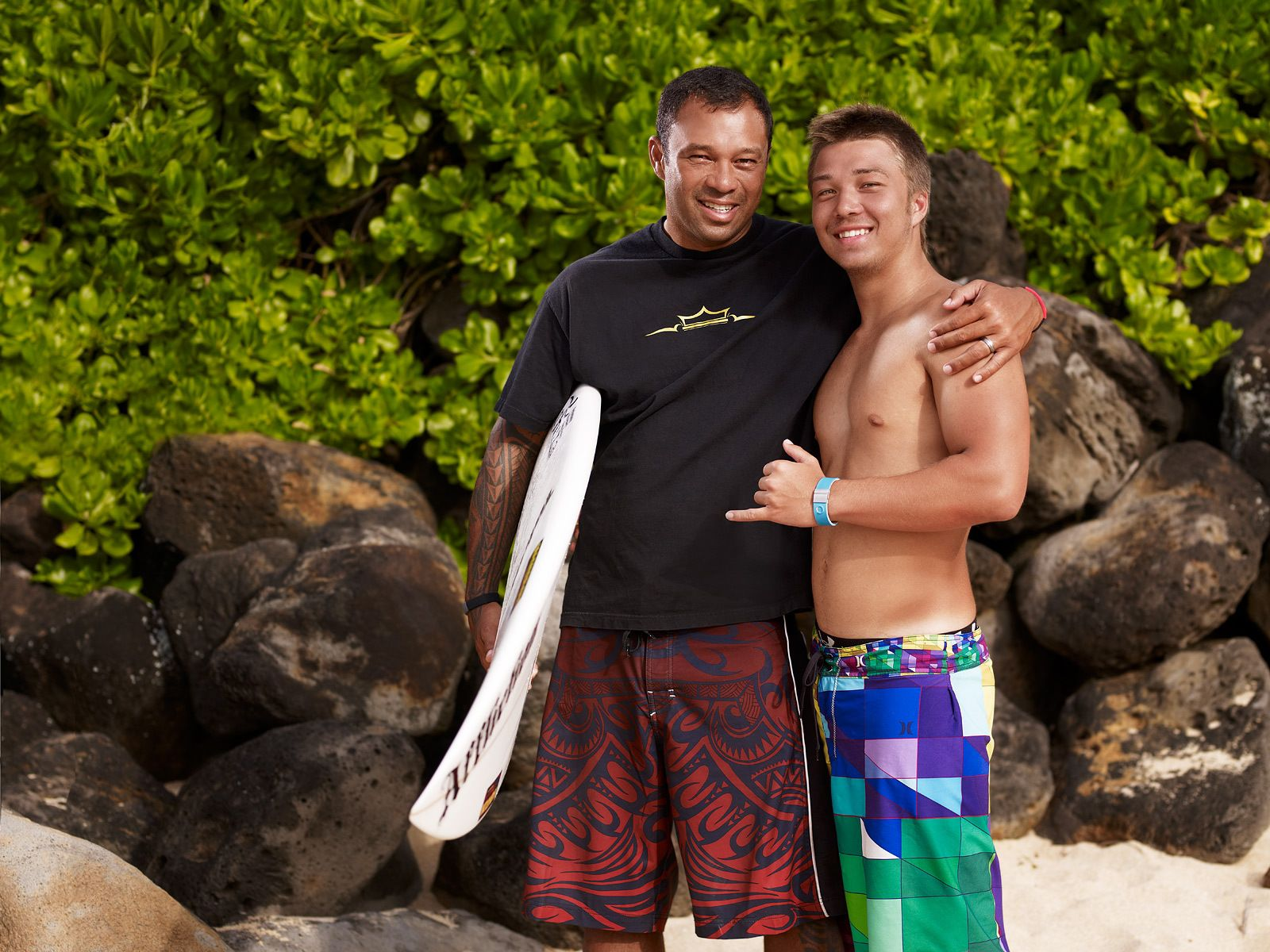 Sunny Garcia and his son Stone GarciaOff The WallNorth Shore, Oahu