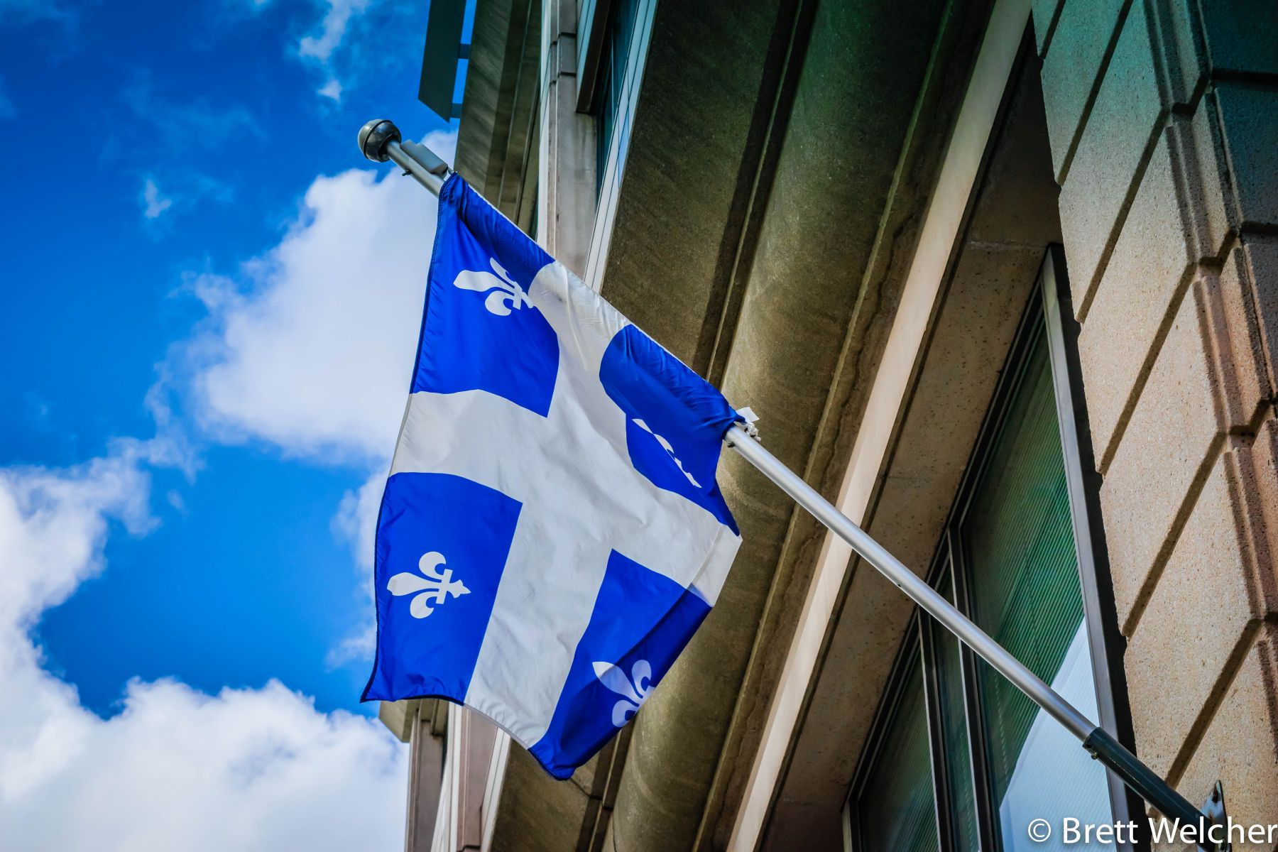 The Flag of Quebec - Montreal, Quebec