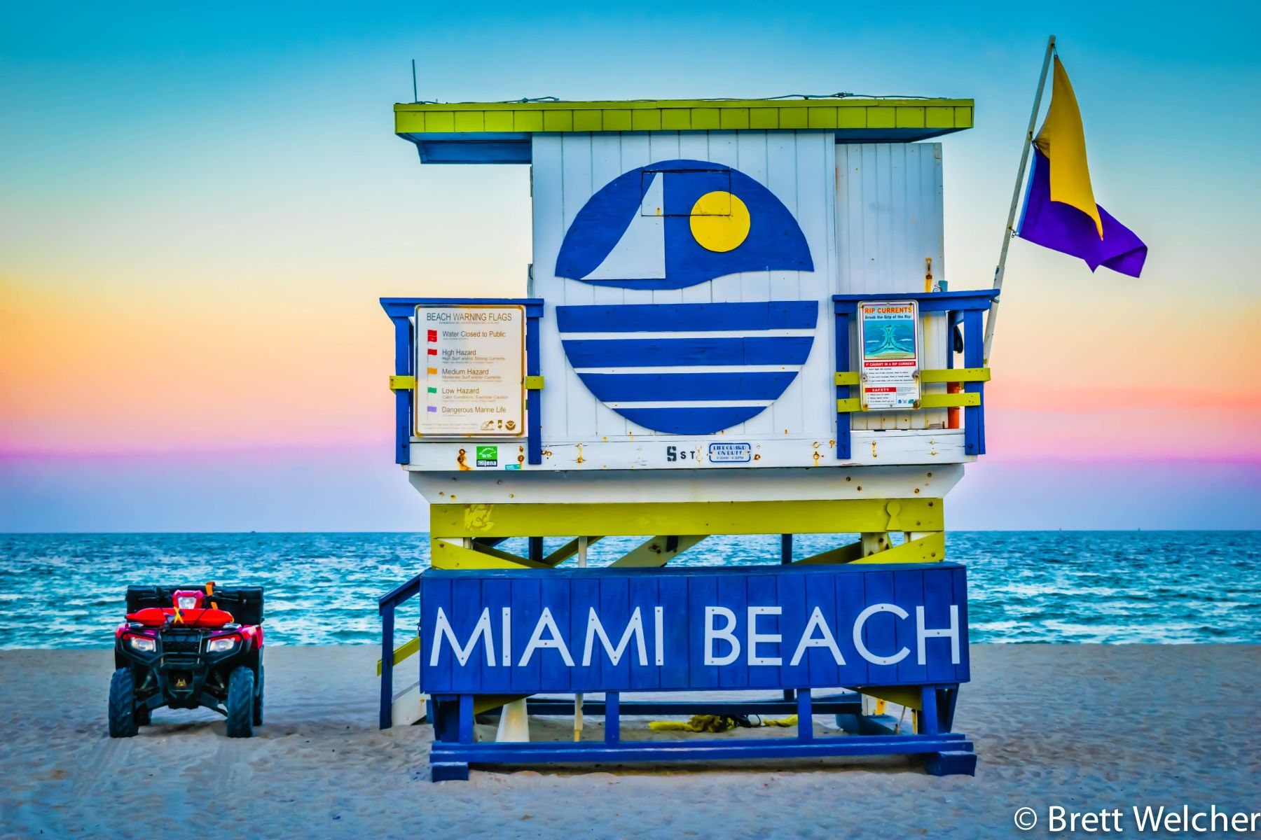 South Beach Lifeguard Towers - Miami Beach, Florida
