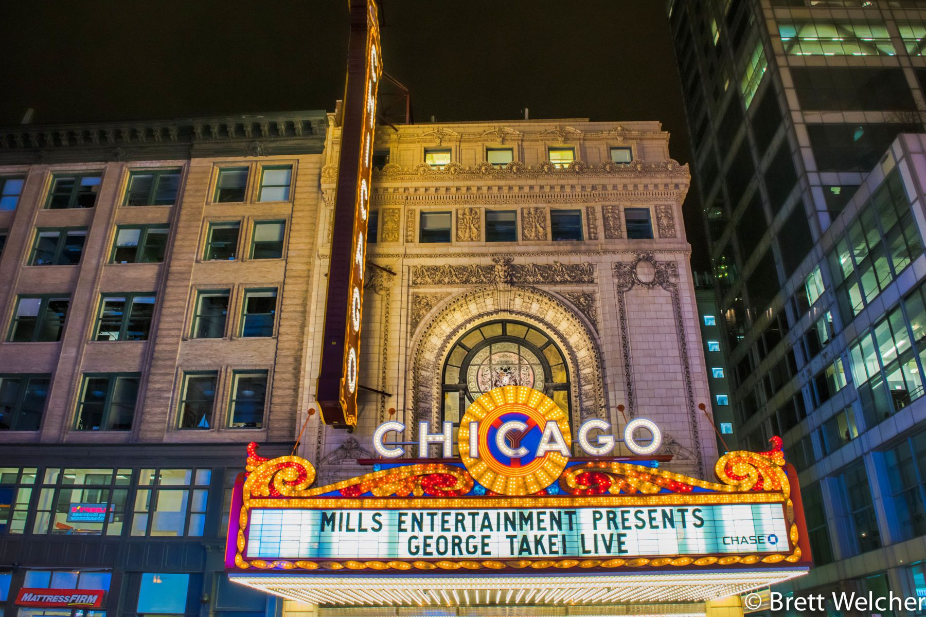 The Chicago Theatre is a legendary auditorium that hosts a variety of entertainment, including stage events, concerts, dance, comedy and special events.