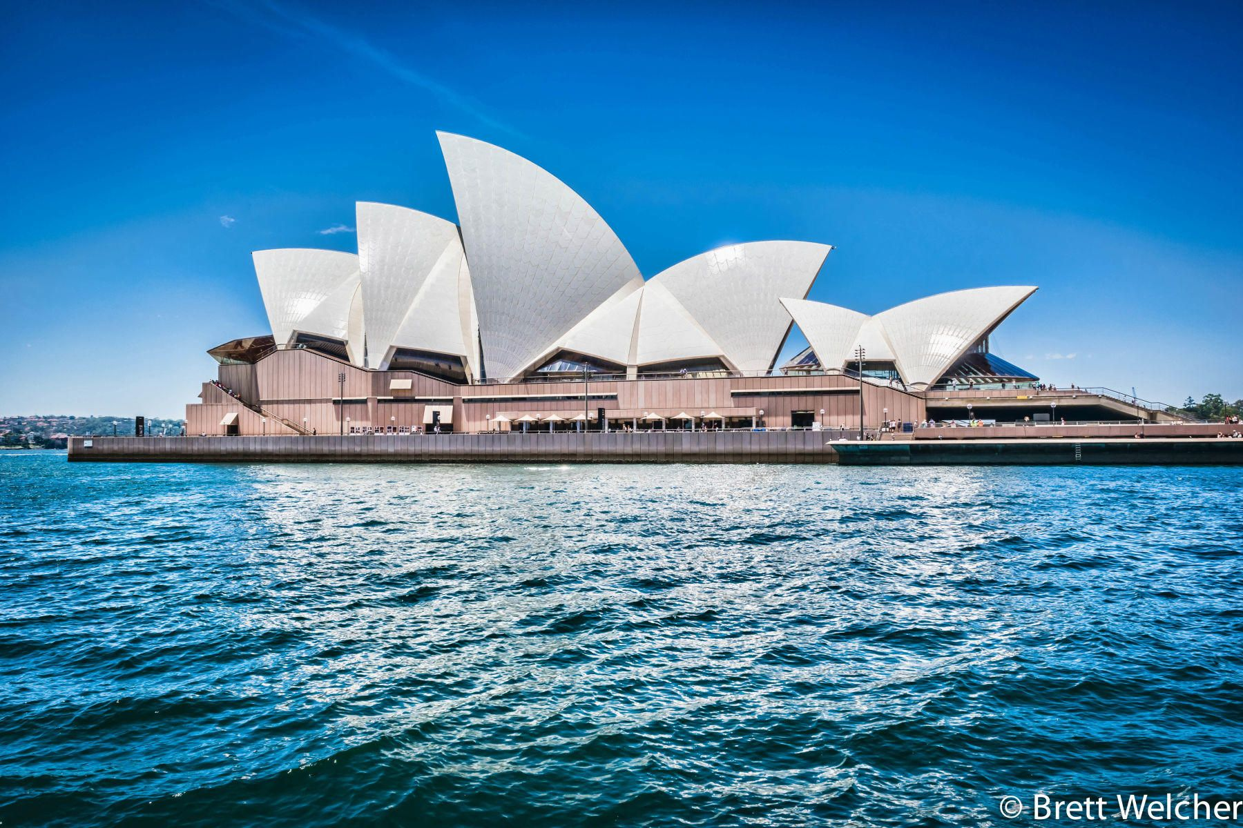 No other building on earth looks like the Sydney Opera House. The building is in fact a complex of theatres and halls linked beneath its famous shells.