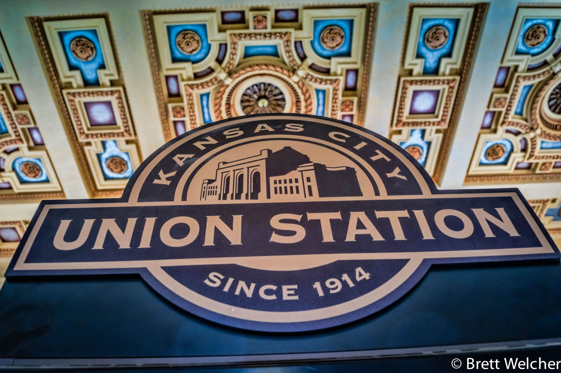 Kansas City Union Station opened in 1914, serving Kansas City, Missouri and the surrounding metropolitan area. It served a peak annual passenger traffic of over 670,000 in 1945 at the end of World War II, quickly declining in the 1950's and was closed in 1
