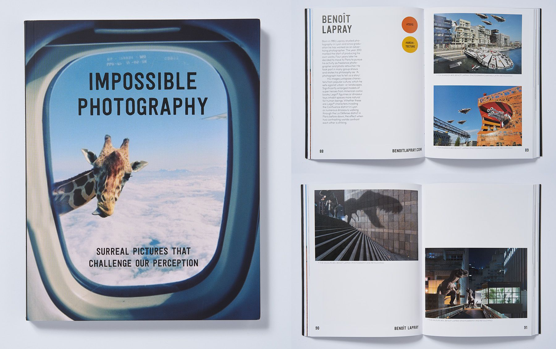 "2 pages in the book ""Impossible Photography"" by Fancy Books (October 2017)"