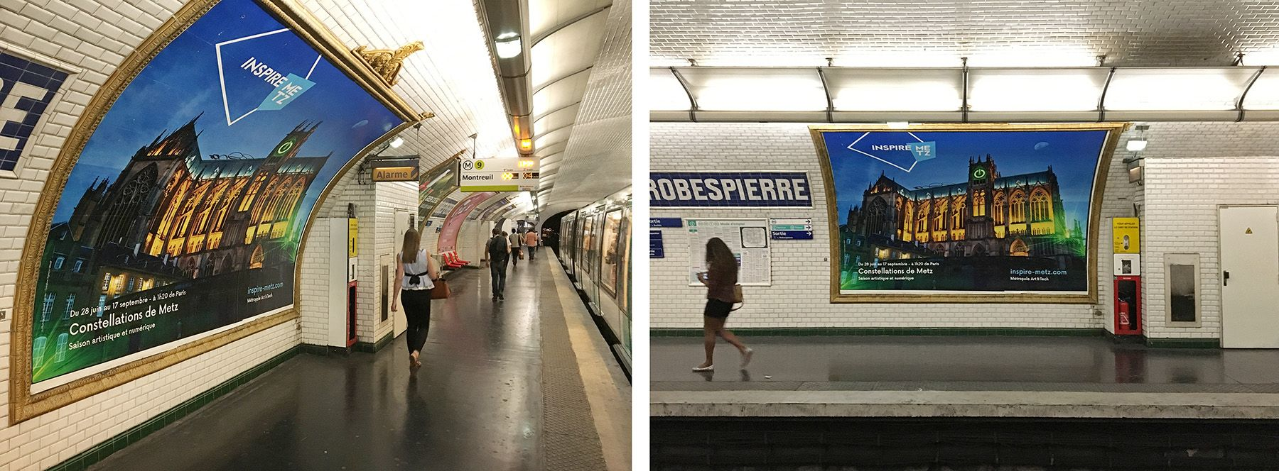"Inspire Metz"" campaign in the subway of Paris"