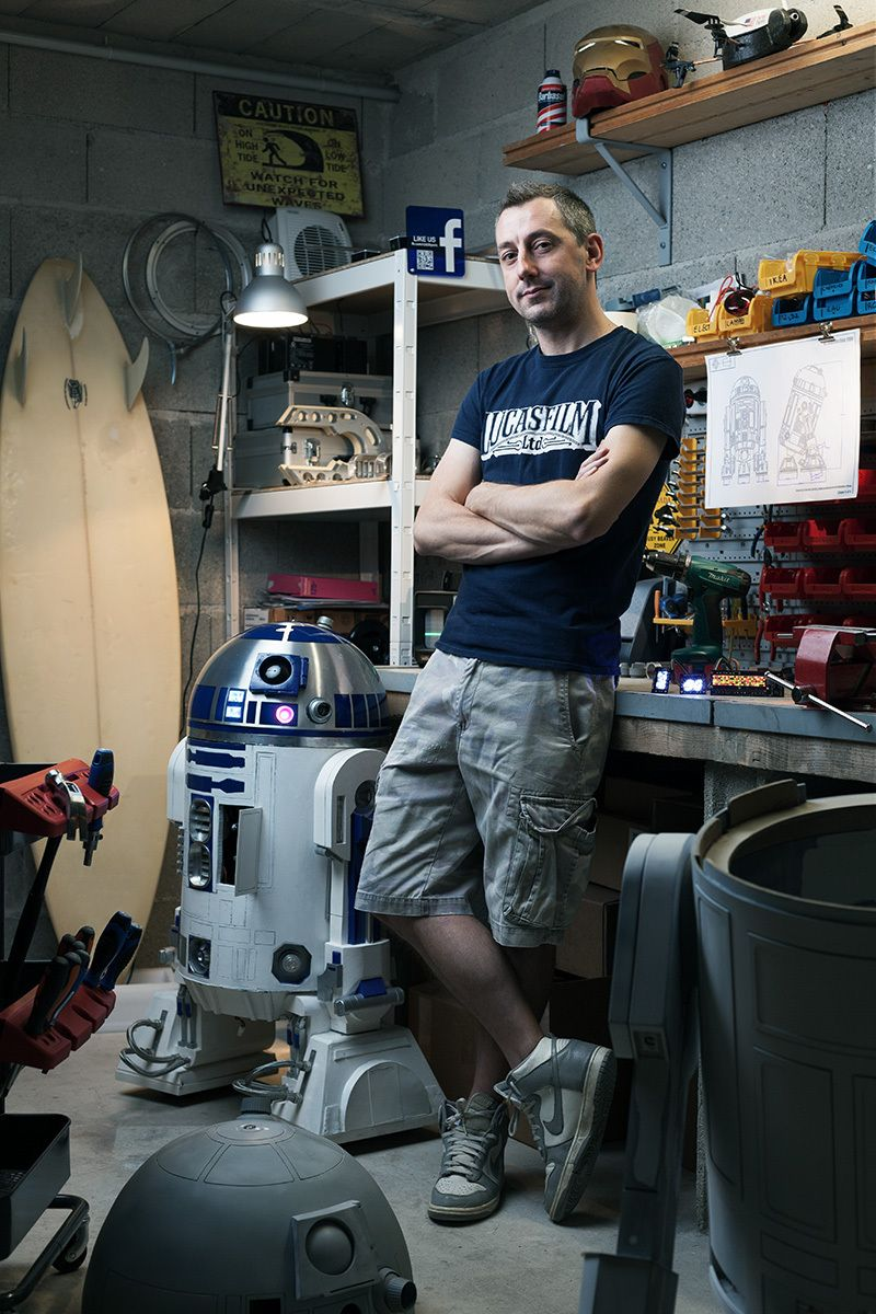 Portrait of Eric Durand, R2-D2 Builder