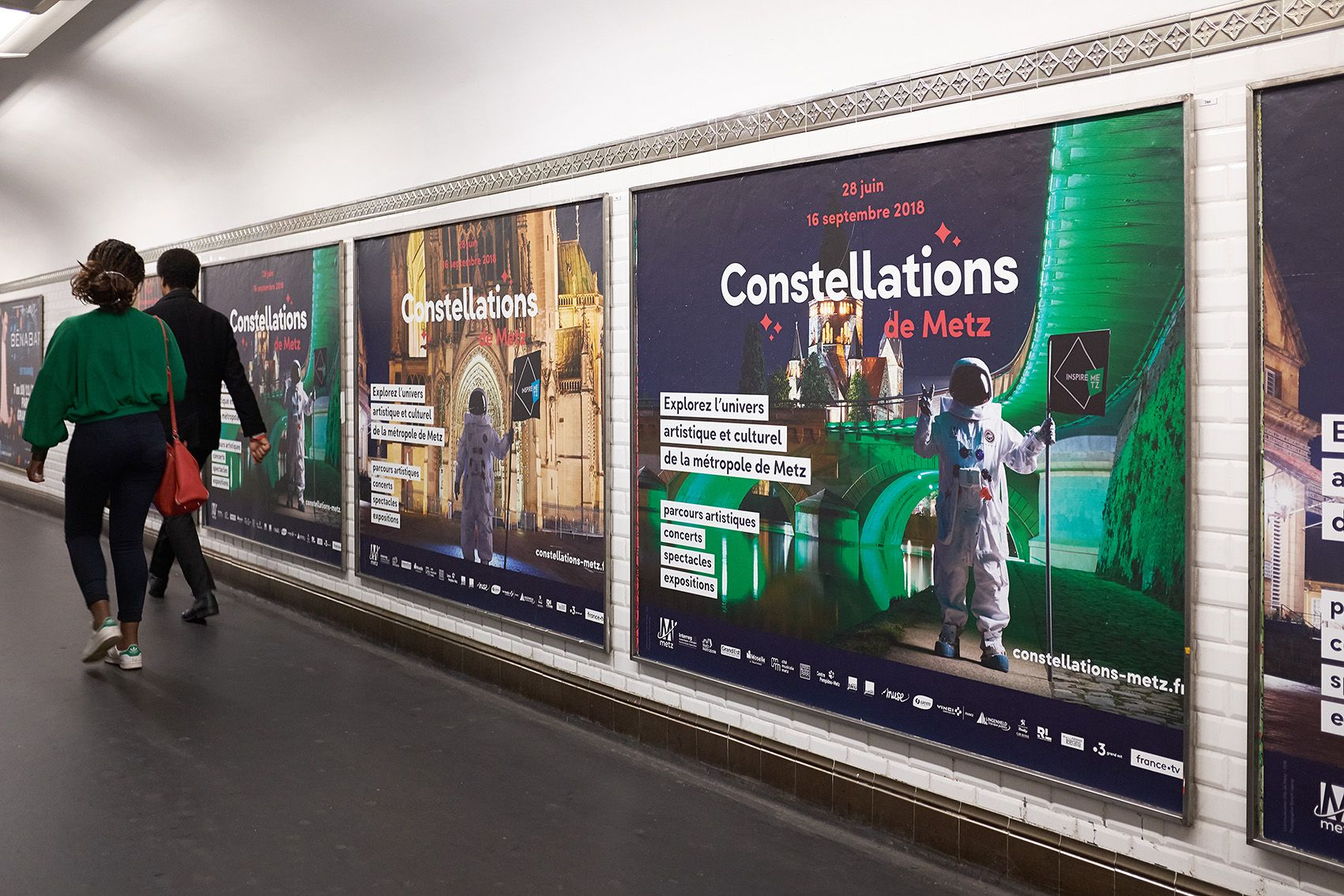"Campaign for the cultural event ""Constellations de Metz"" in the subway of Paris"