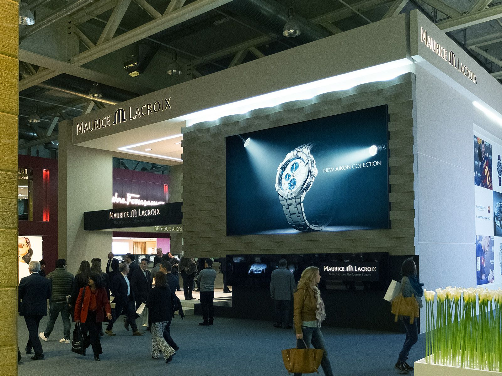 Maurice Lacroix's booth on Baselworld 2016 (Switzerland)
