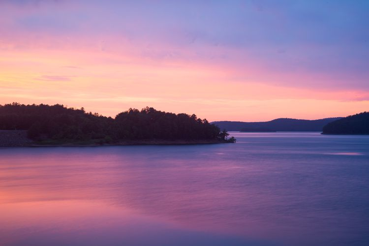 Broken Bow Lake Purple Sunrise