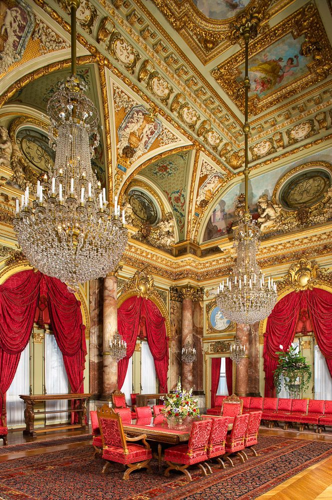 The Breakers dining room designed by architect Richard Morris Hunt