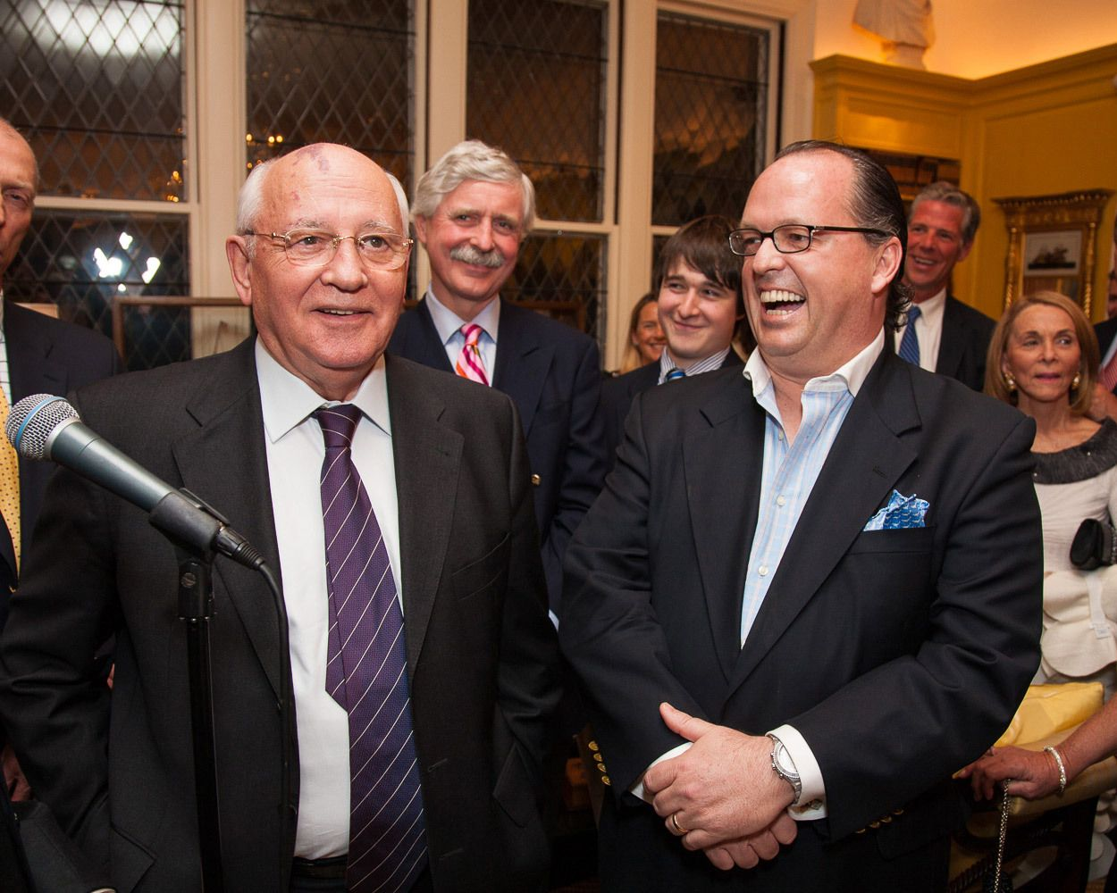 Mikhail Gorbachev, former President of the Soviet Union, is a guest speaker at Carnegie Abbey.