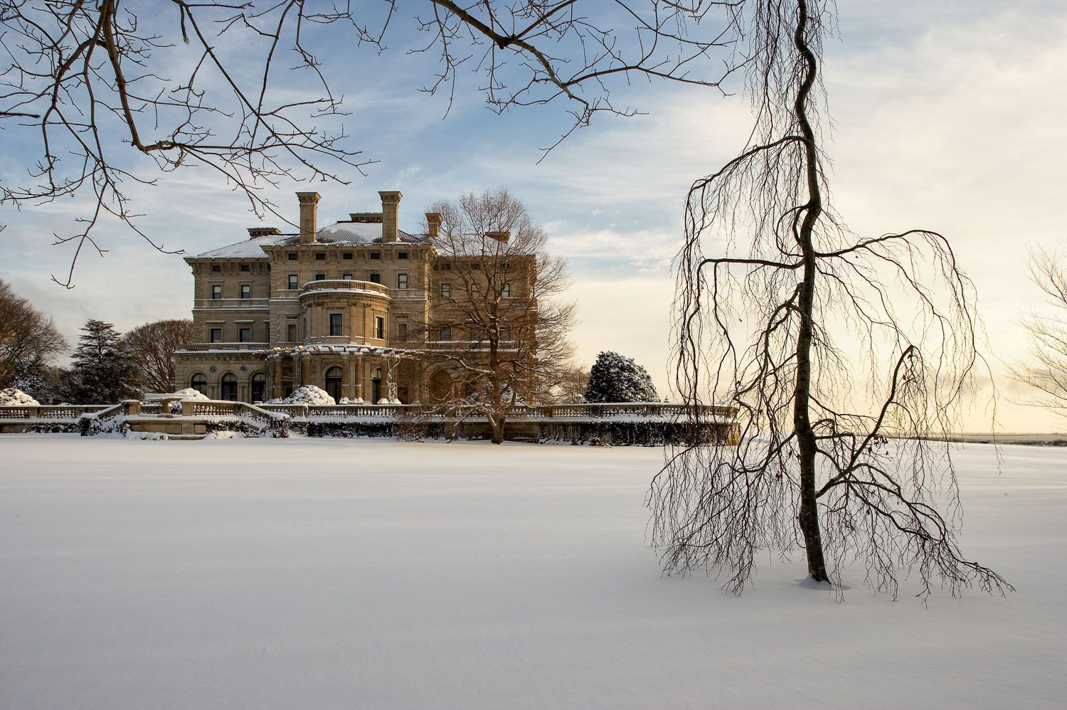 The Breakers on a snowy day