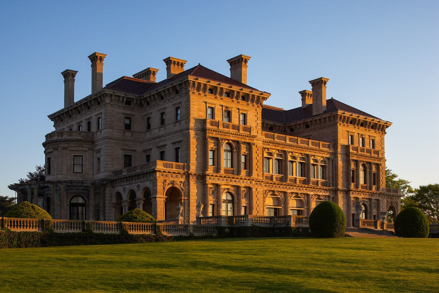 The Breakers, was built by Cornelius Vanderbilt II who was President of the New York Central Railroad system.