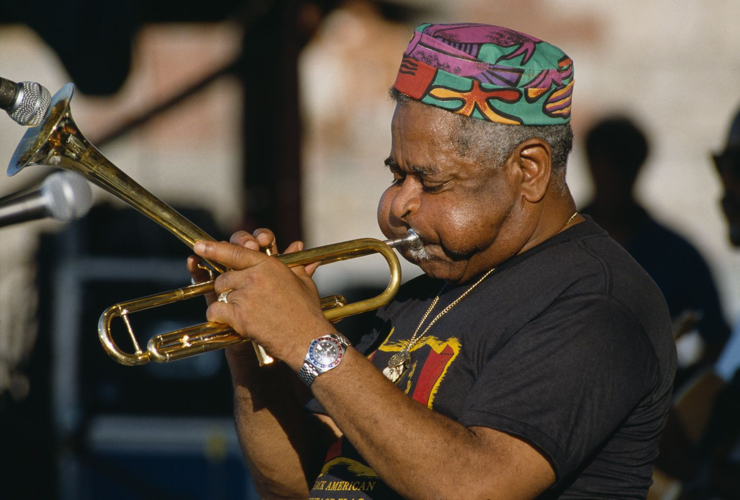 Dizzy Gillespie and his unique trumpet style