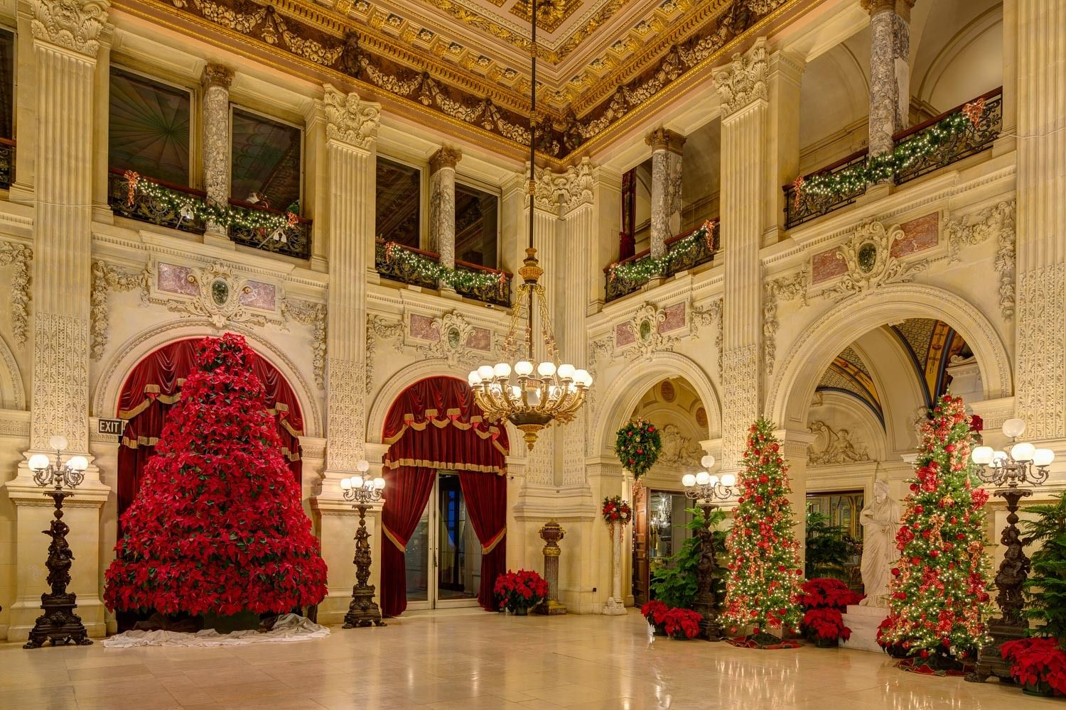 The Breakers Great Hall at Christmas