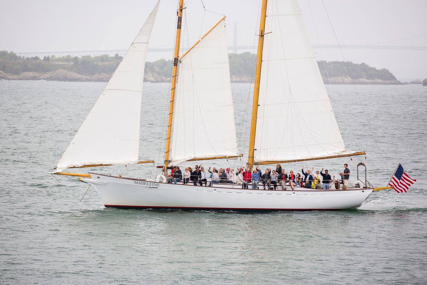 Many corporate visitors include a sail on Narraganset Bay.