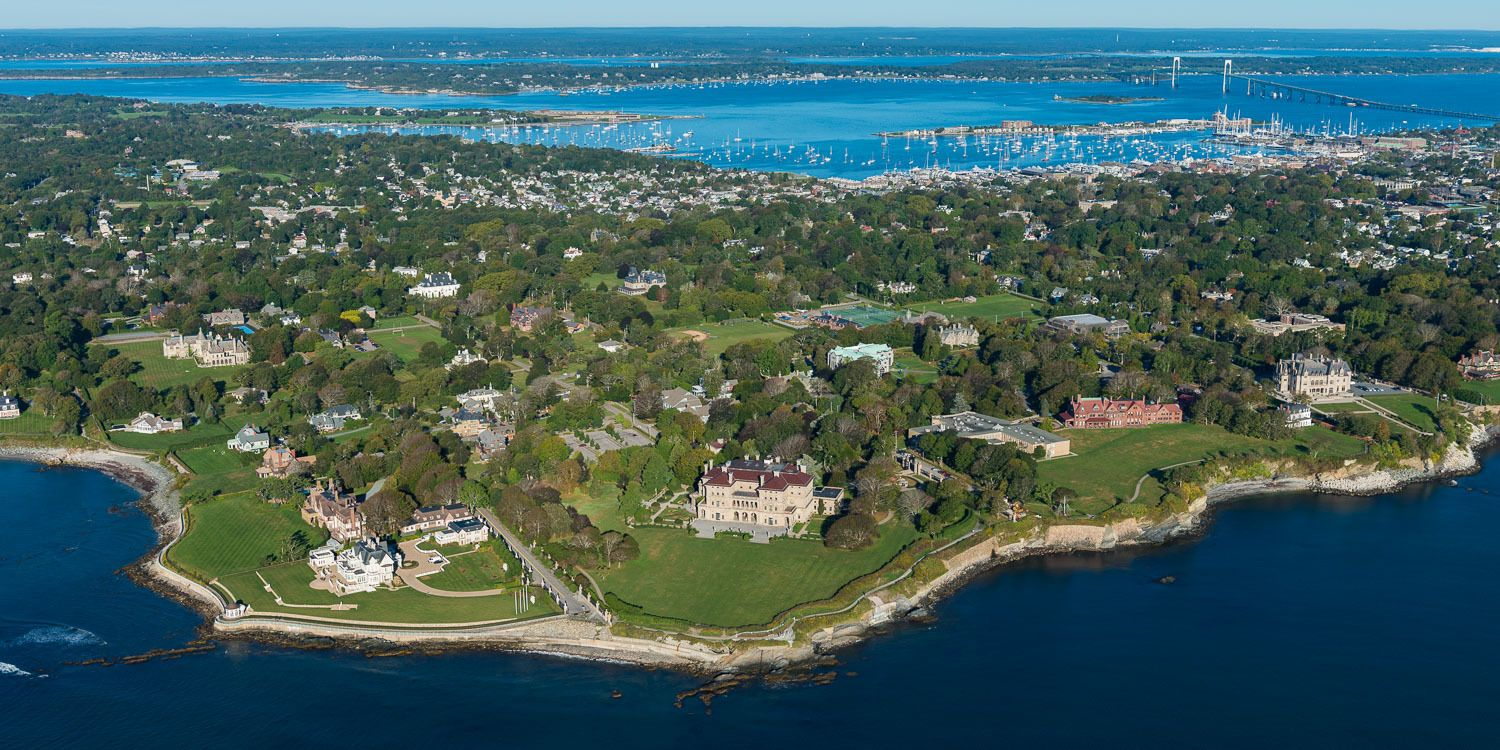 The Breakers and Salve Regina University to the right