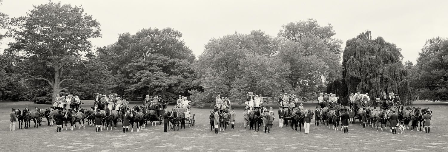 Authentic 19th century coaches  & horses at Chateau-sur-Mer as part of the PSNC weekend of Coaching