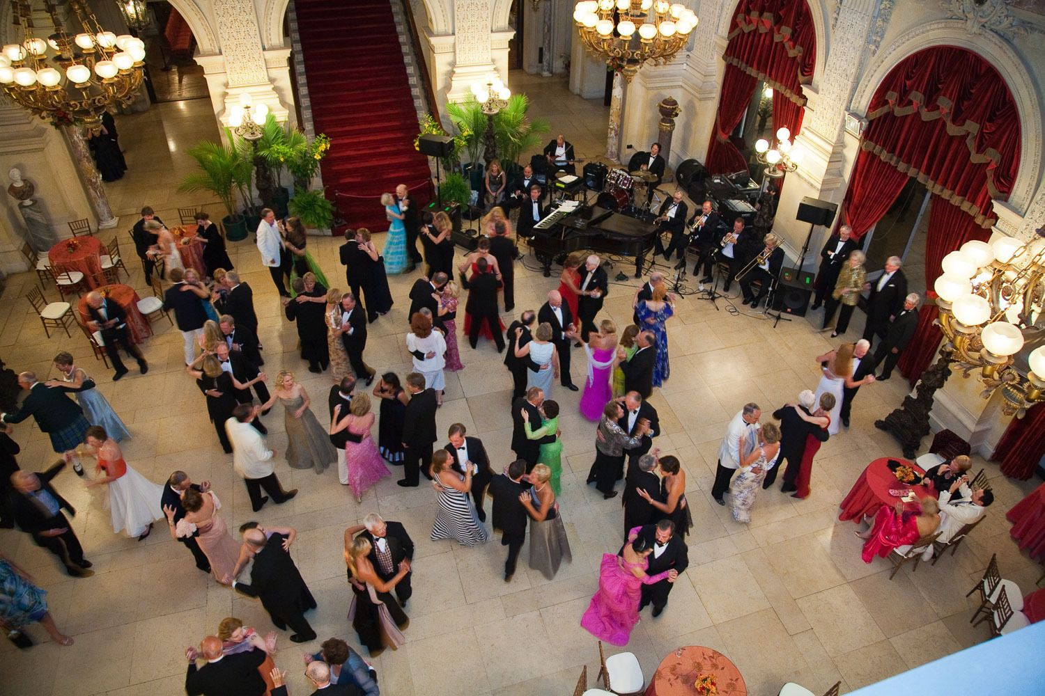Guests step back in time dancing in the Great Hall at The Breakers