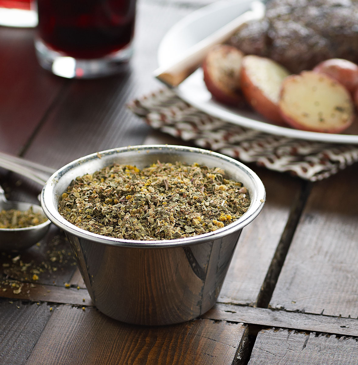 Pepper herb rub seasoning