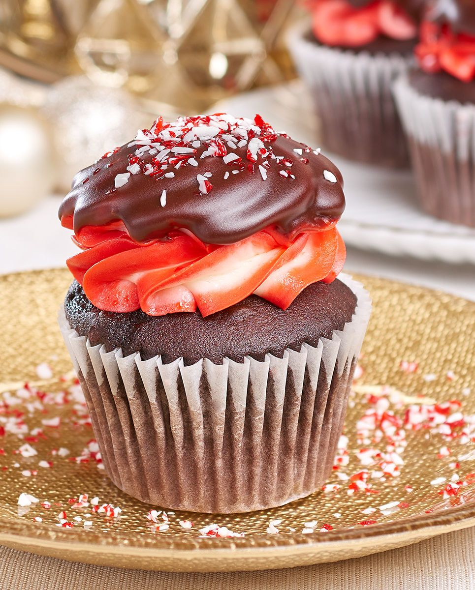 Crushed peppermint cupcakes
