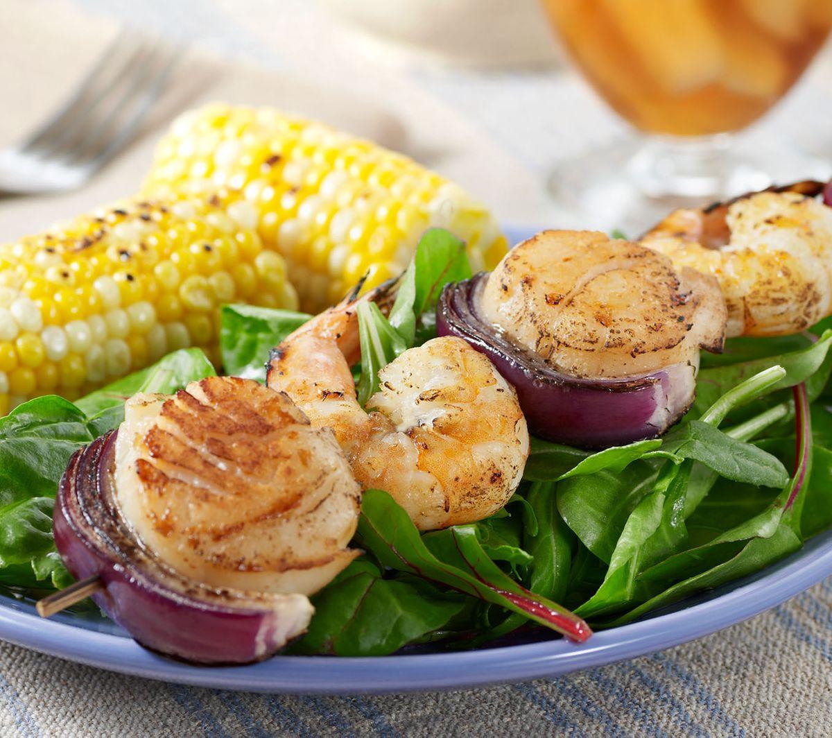 Shrimp with corn