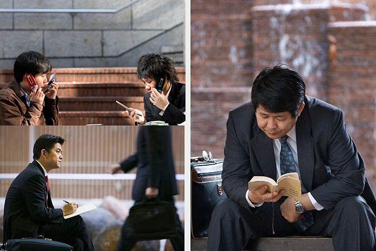 japan urban businessmen