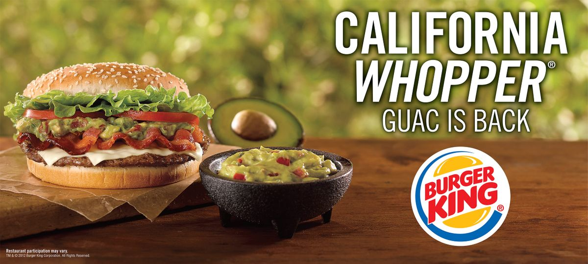 Burger King CA Whopper Ad