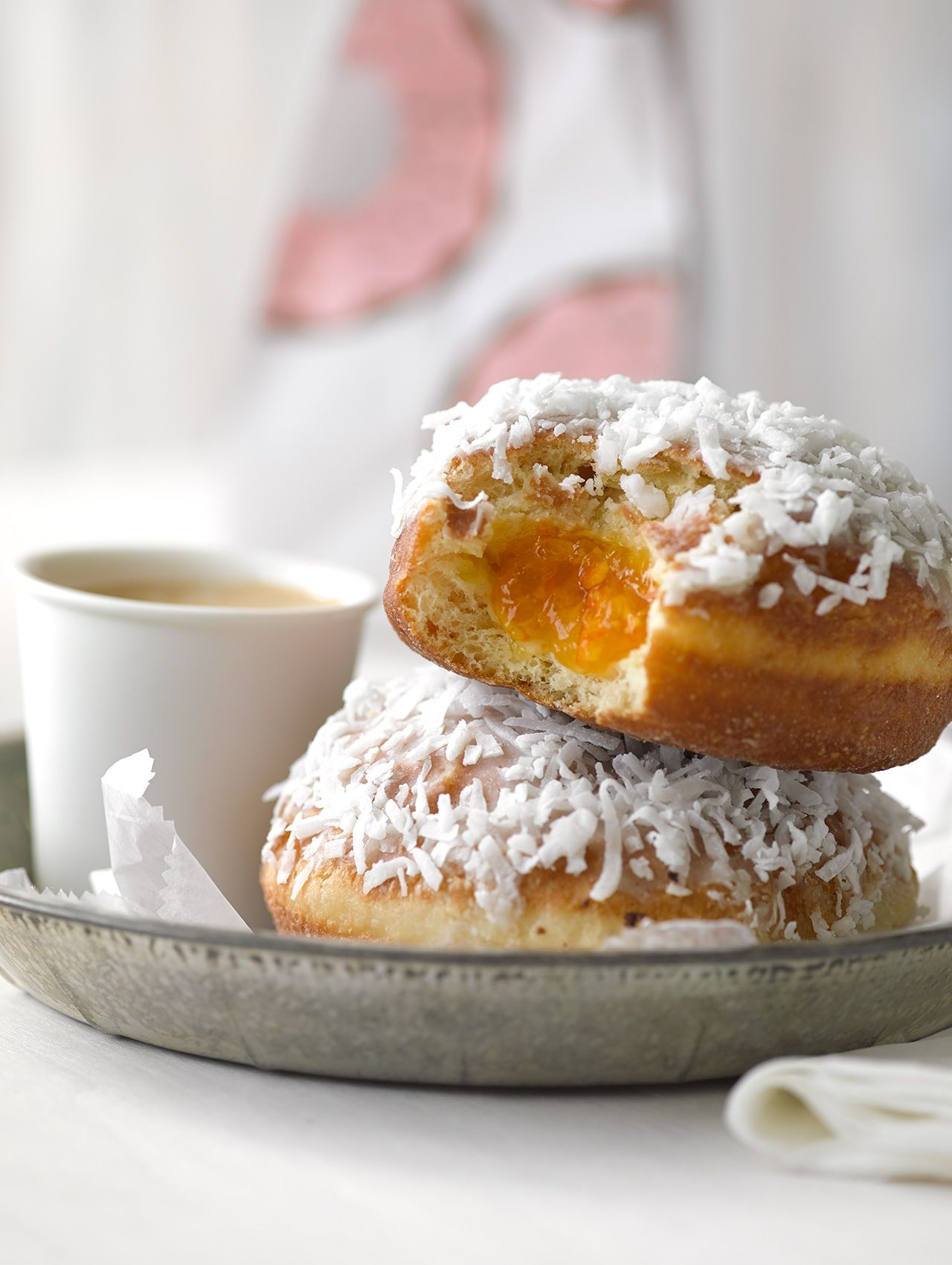 Marmalade Donuts Coconut Flakes