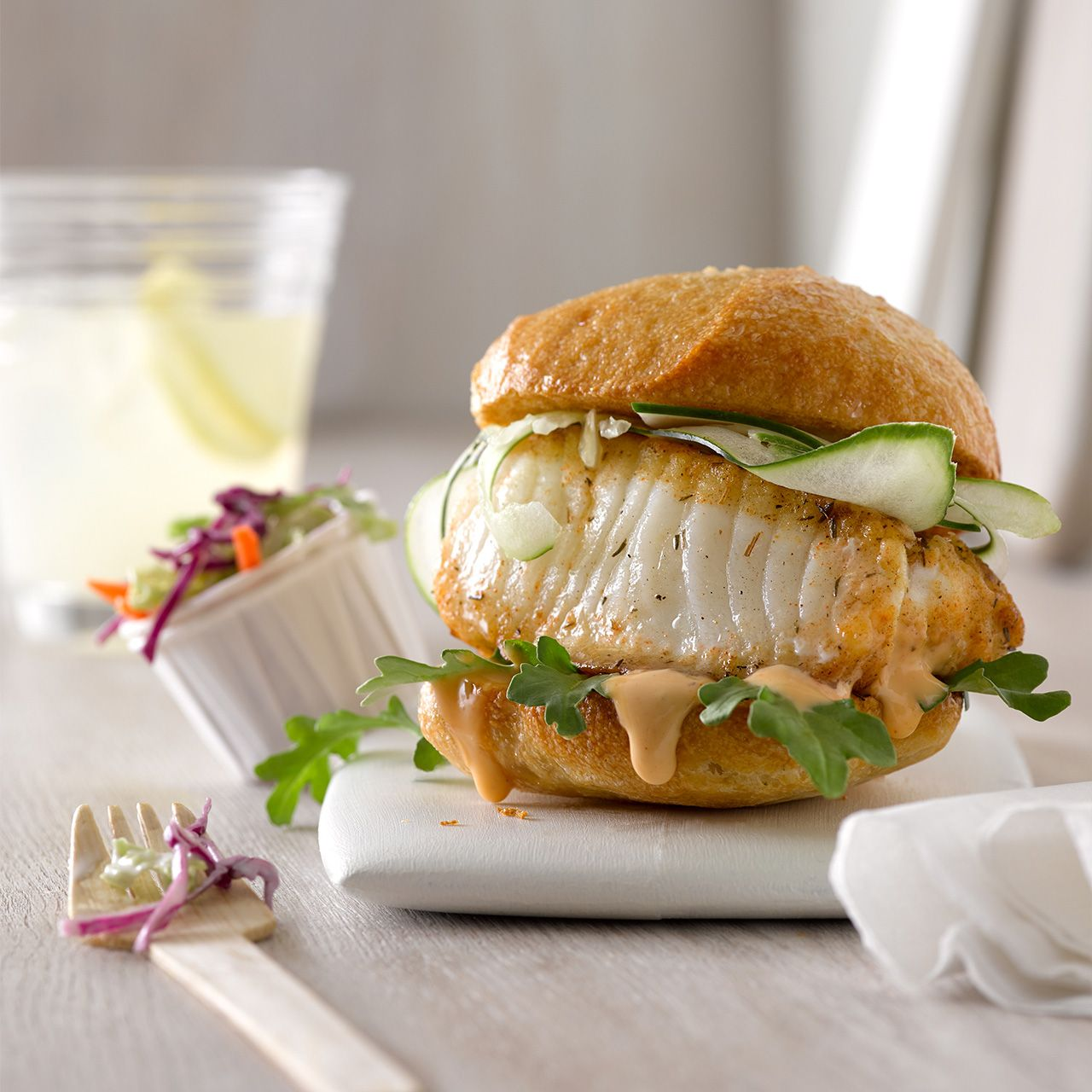 White Fish Burger
