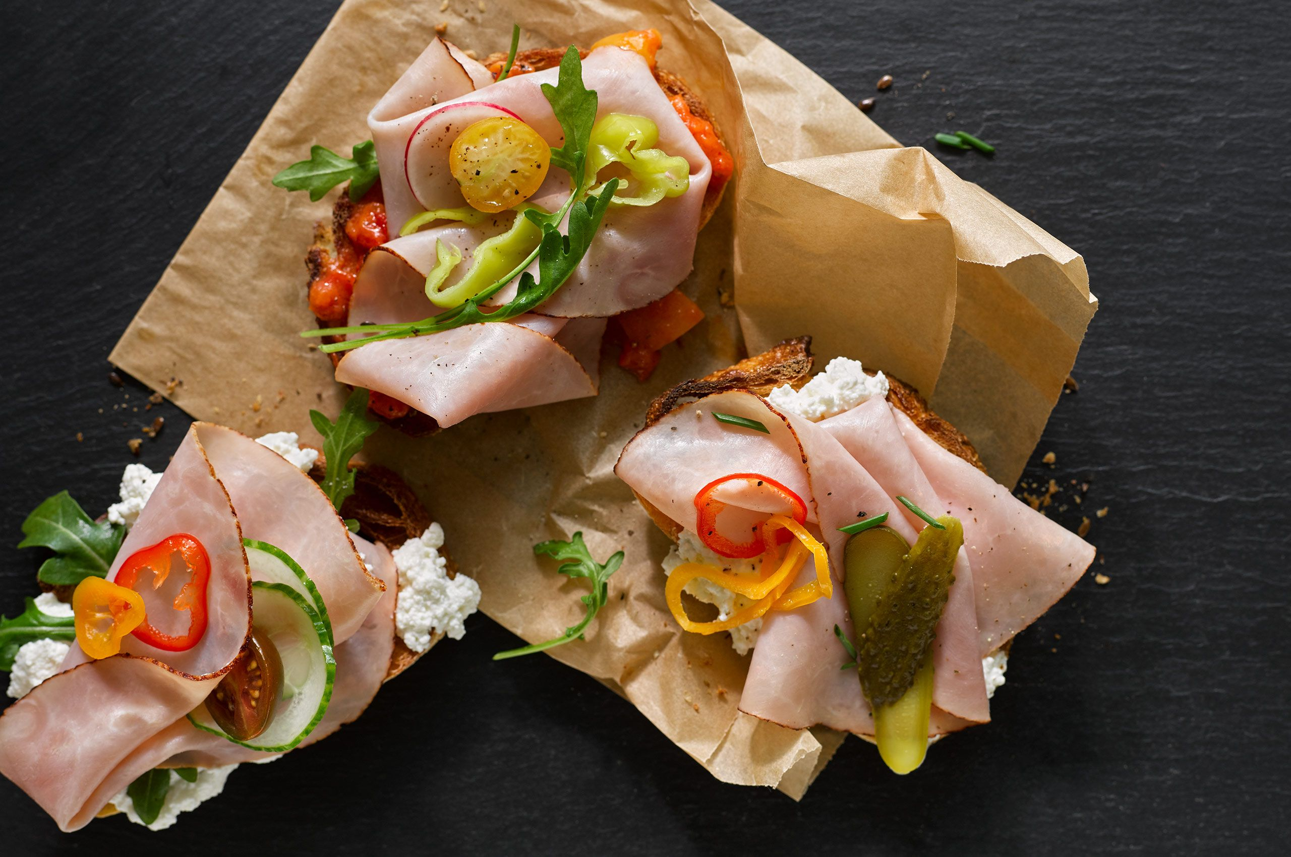 Open Face Ham Sandwich
