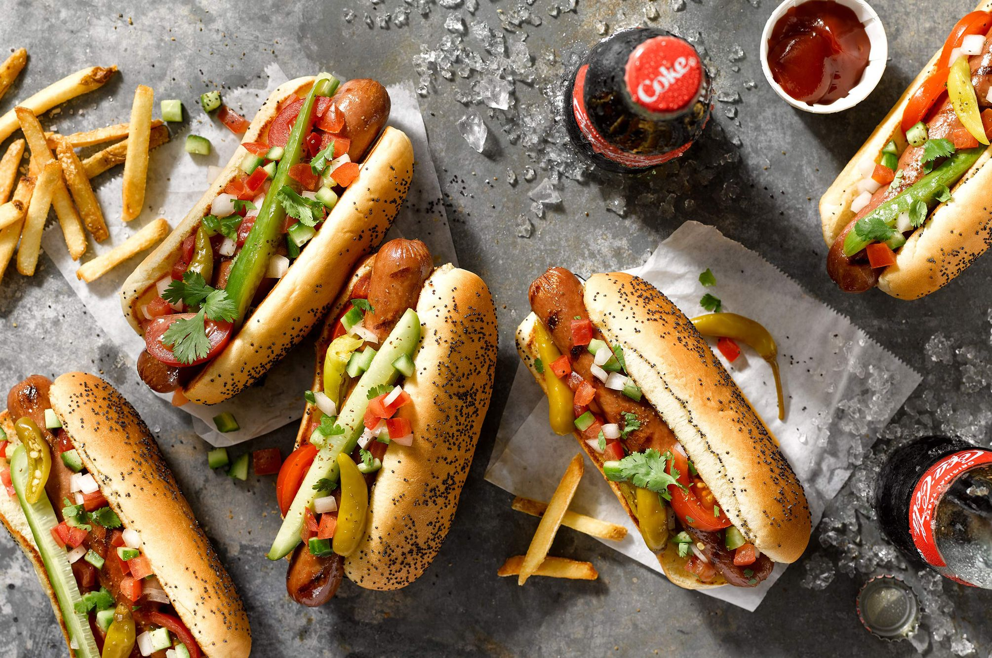 Chicago Style Vienna Hot Dogs